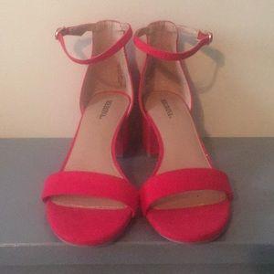 Merona Shoes - NWOT red Merona heeled sandals